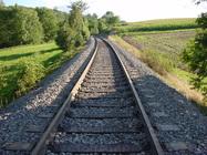 rieles, vía, vía del ferrocarril